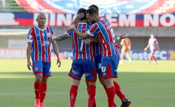 [Gilberto marca quatro vezes e Bahia goleia o Altos-PI por 5 a 0]