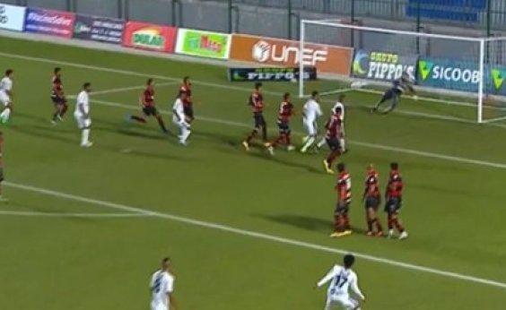 [Vitória arranca empate em 1 a 1 com o Bahia de Feira pelo Baianão]