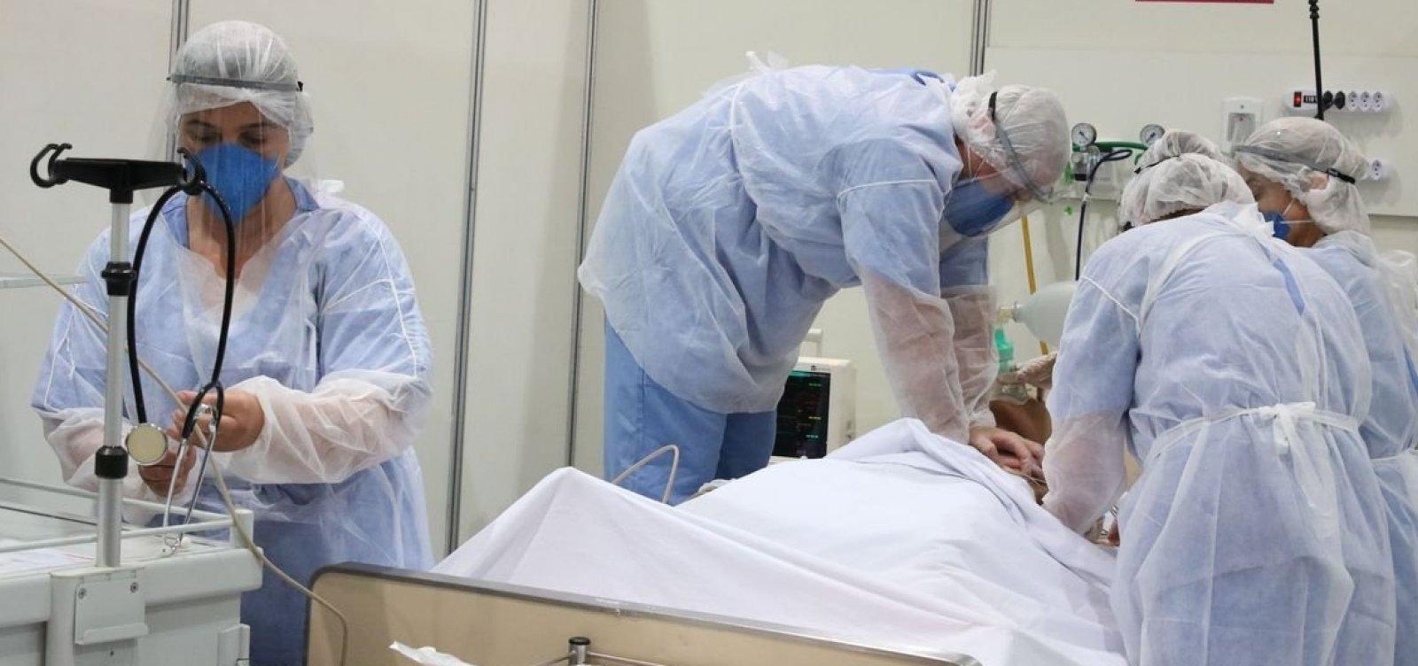 [Com sistema de saúde saturado, 44% dos municípios estão na iminência de faltar kits intubação]