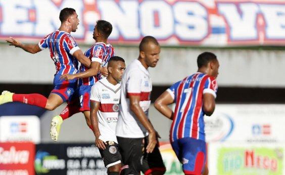 [No sufoco, Bahia vence o Atlético de Alagoinhas pelo Baianão por 2 a 1]