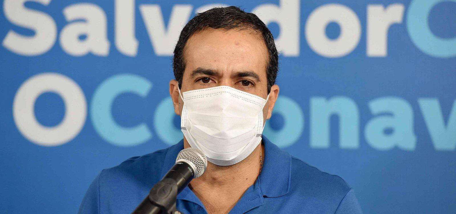 [Bruno Reis pede prioridade de vacinação para trabalhadores do transporte público em reunião com Queiroga ]