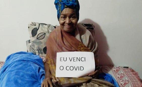 [Em casa, Alaíde do Feijão celebra: 'Eu venci o Covid']