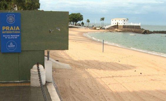 [Praias seguem fechadas em Salvador por mais uma semana]