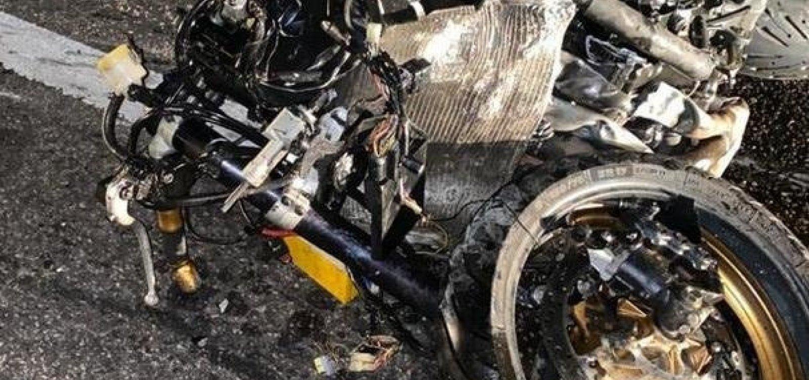 [Policial militar é morto após carro na contramão colidir com sua moto ]