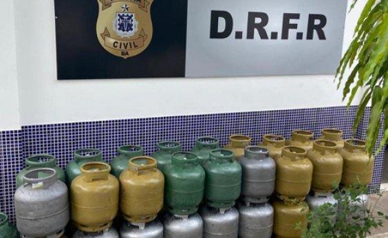 [Polícia recupera carga furtada de botijão de gás em Jequié]