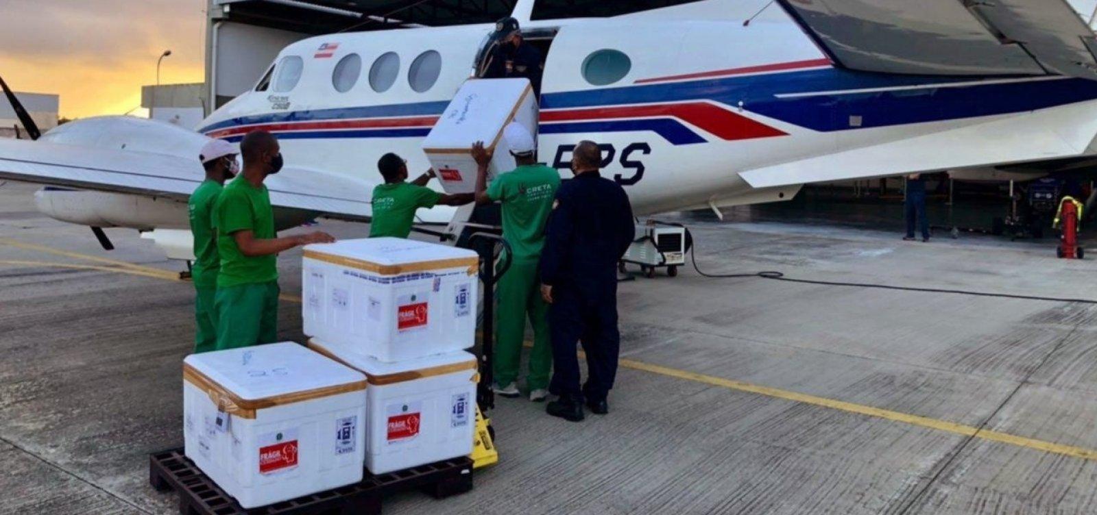 [Novo lote de vacinas contra Covid-19 chega à Bahia]