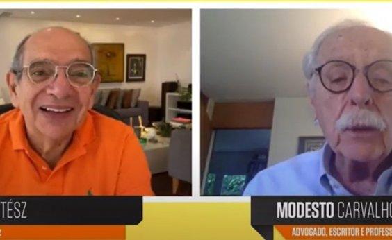 """[""""Precisamos de uma nova constituição para o Brasil"""", diz Modesto Carvalhosa]"""