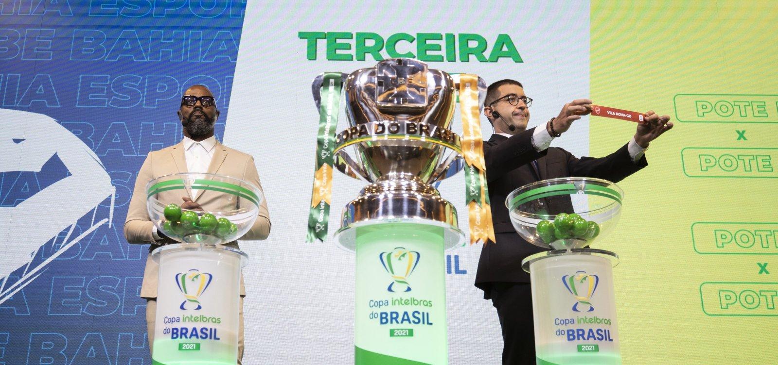 [Em sorteio, Bahia, Vitória e Juazeirense conhecem seus adversários na Copa do Brasil]
