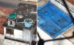 [E a dengue? Secretaria de Saúde de Ilhéus tem água parada no seu próprio prédio]