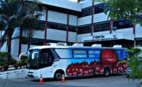 [Ciclitas promovem campanha para ajudar no abastecimento de sangue do Hemoba]