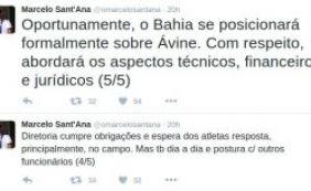 [Pelo Twitter, presidente Marcelo Sant'Ana responde acusações de Ávine]