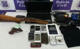 [Polícia prende receptador com armas e celulares em Alagoinhas]