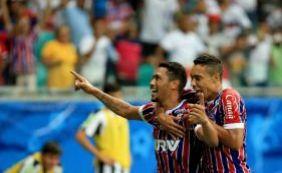 [Bahia empata com o Santos por 2 a 2 em jogo comemorativo na Fonte Nova]