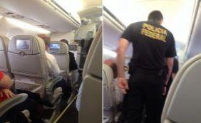 [Após confusão, homem é retirado de voo pela Polícia Federal]