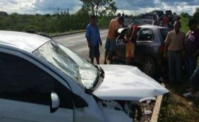 [Colisão frontal entre dois veículos deixa idoso de 62 anos morto na BR-349]