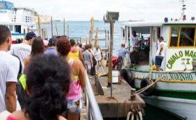 [Passageiros encontram fluxo intenso na travessia Mar Grande-Salvador]