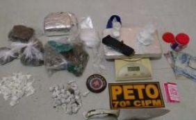 [Suspeito de tráfico é preso com dois quilos de drogas em Ihéus]