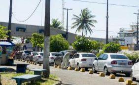 [Ferryboat tem espera de três horas para embarque no terminal de São Joaquim ]