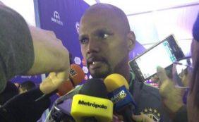 [Fala, Jefferson! Goleiro brasileiro fala ao microfone da Metrópole após derrota]