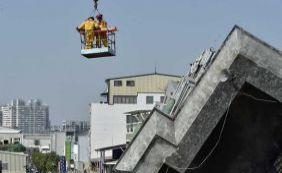 [Sobreviventes são resgatados em Taiwan 50 horas após terremoto]