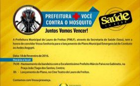 [Prefeitura lança plano municipal de combate ao Aedes em Lauro de Freitas]