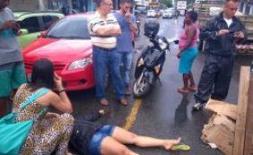 [Motociclista fica ferida após cair em boca de lobo no bairro do Uruguai]