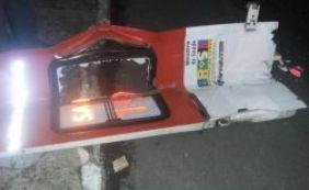 [Porta de ambulância é arrancada por ônibus em Sete de Abril]