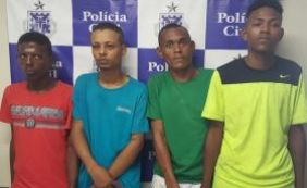 [Quatro homens são presos e adolescente apreendido por tráfico e assalto]
