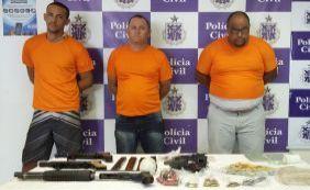 [Três traficantes envolvidos em mortes no Subúrbio são presos ]
