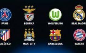 [UEFA define os confrontos pelas quartas da Liga dos Campeões]