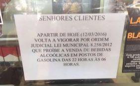 [Volta a vigorar lei que proíbe venda de bebida alcoólica em postos de Salvador ]