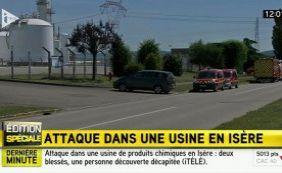 [Atentado terrorista deixa feridos em usina na França]