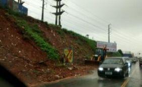 [Deslizamento na avenida São Rafael é um dos 20 registrados nesta manhã]