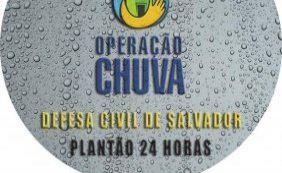 [Com chuvas, Defesa Civil registra nove pedidos de emergência em Salvador]