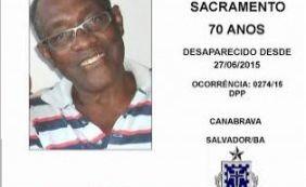 [Família busca idoso de 70 anos desaparecido em Canabrava]
