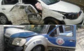 [Perseguição policial e troca de tiros termina em acidente na Av. San Martin]