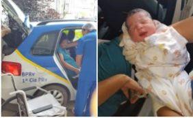 [Policiais realizam parto de bebê em rodovia de Simões Filho]