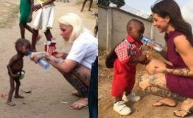 [Um ano após ser resgatado desnutrido, menino vai ao primeiro dia de aula]