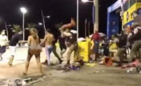 [Policial agride folião com cone durante pré-carnaval na Barra; PM investiga]