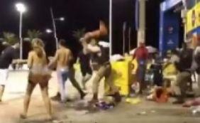 [SSP repreende PM que agrediu folião com cone na Barra: