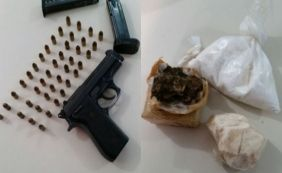 [Líder de tráfico em Candeias é preso com arma e drogas]
