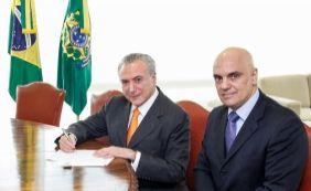 [Temer diz que Moraes atuará com 'imparcialidade' no STF]