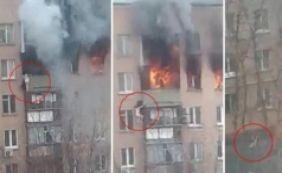 [Mulher se joga do oitavo andar para fugir de incêndio e sobrevive; veja vídeo]