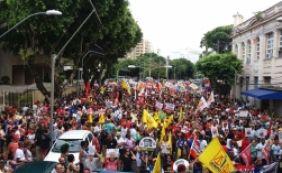 [Manifestantes iniciam protesto contra reforma da Previdência no Campo Grande]