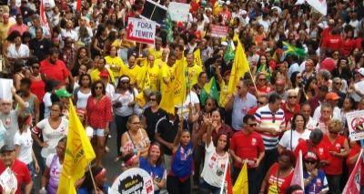 Ato contra reforma da Previdência leva 50 mil pessoas às ruas do Campo Grande