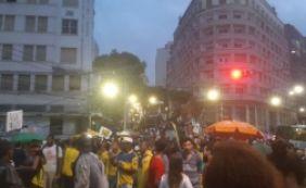 [Protesto contra reforma da Previdência é encerrado por causa da chuva]