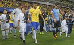 [Ídolo uruguaio lamenta ausência de Suárez em jogo contra o Brasil]