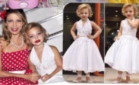 [Sheila Mello veste filha de 4 anos de Marilyn Monroe e é criticada na web]