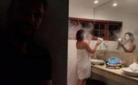 [Bruno Gagliasso faz pegadinha com Giovanna Ewbank com farinha no secador; vídeo]