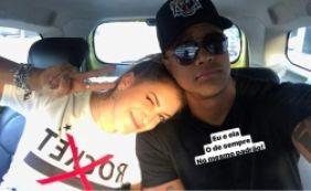 [Léo Santana troca beijos calientes com Lore Improta em show de Justin Bieber]